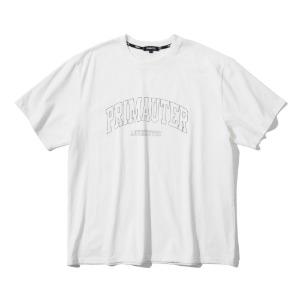 [프리마우터] 바시티 리니어 하프셔츠 (ivory)