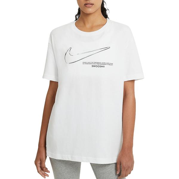 ES_나이키 여성 반팔 티셔츠 드라이 핏 스우시 루즈핏 DB9811-100