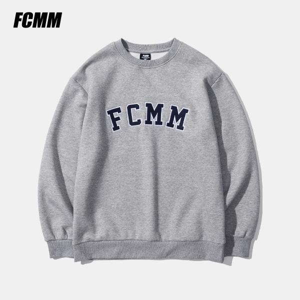 [FCMM] 클래식 아플리케 로고 크루넥 맨투맨 - 멜란지 그레이(10월 22일 순차발송)
