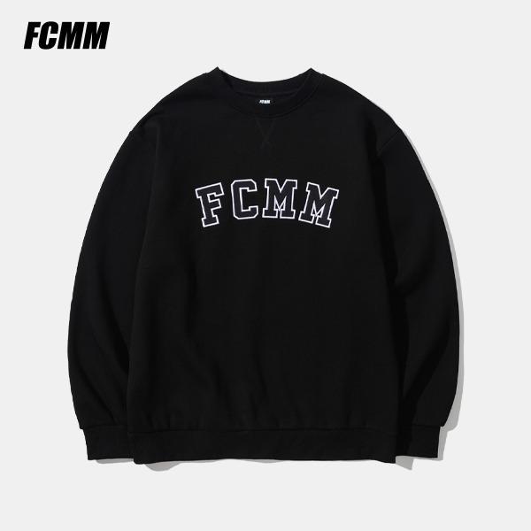 [FCMM] 클래식 아플리케 로고 크루넥 맨투맨 - 블랙(10월 22일 순차발송)
