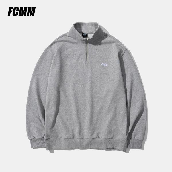 [FCMM] 클럽 팀 클래식 하프집 맨투맨 - 멜란지 그레이