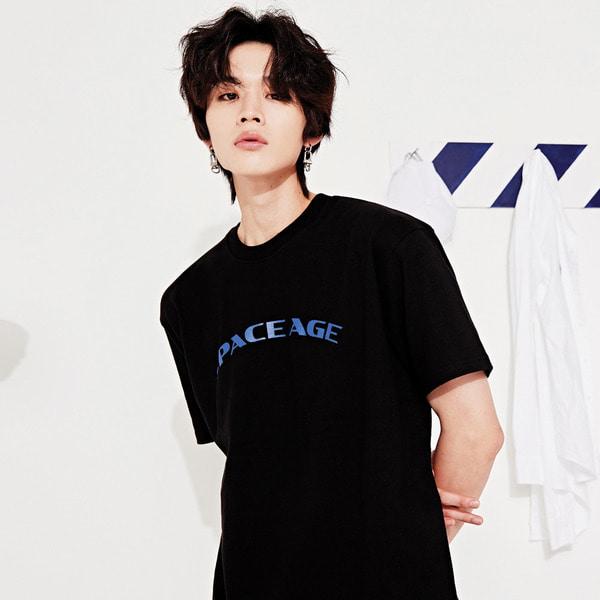 [스페이스에이지] 아치 로고 티셔츠 (블랙)