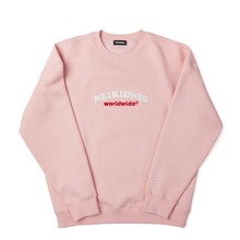 [SIMPLY PRICE .9][네이키드니스][기모] WORLD LOGO SWEAT SHIRT / PINK
