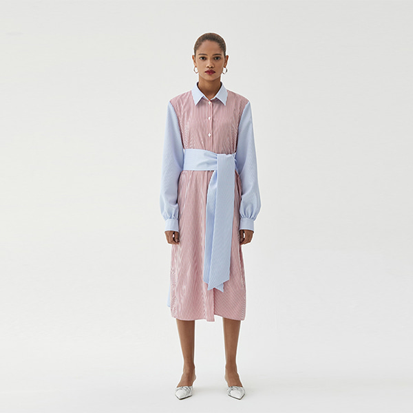 [ANOTHER LOUNGE] Dress Long Shirts (Multicolor)