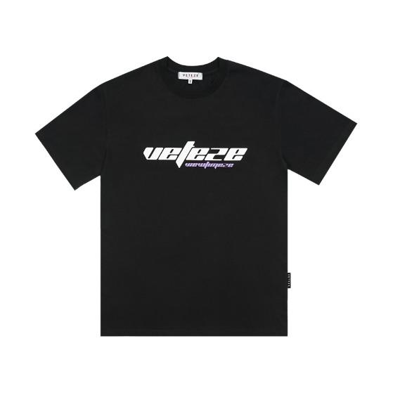 [VETEZE] True Up Half T-Shirts (black)