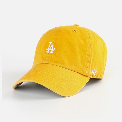47브랜드 LA 볼캡 모자 머스타드