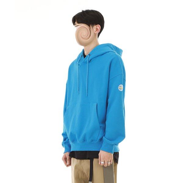 [RDVZ] 알디브이제트 Basic Hoodie Aqua Blue