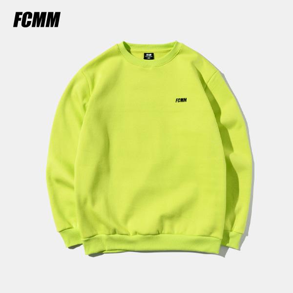 [SIMPLY PRICE .9][FCMM] 클럽 에센셜 맨투맨 - 네온라임