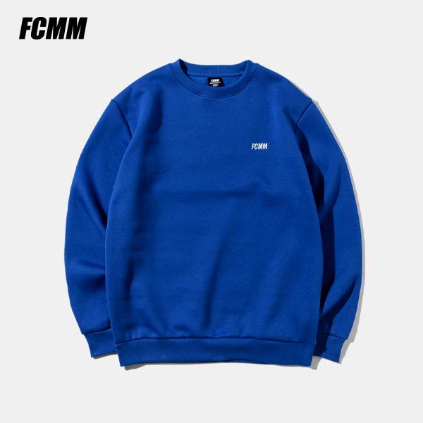 [SIMPLY PRICE .9][FCMM] 클럽 에센셜 맨투맨 - 블루