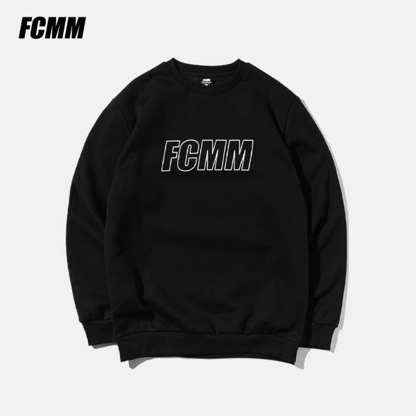 [SIMPLY PRICE .9][FCMM] 리니어 로고 맨투맨 - 블랙