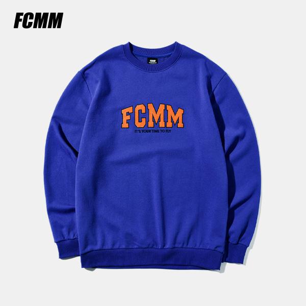[FCMM] 어블릭 글로시 맨투맨 - 블루