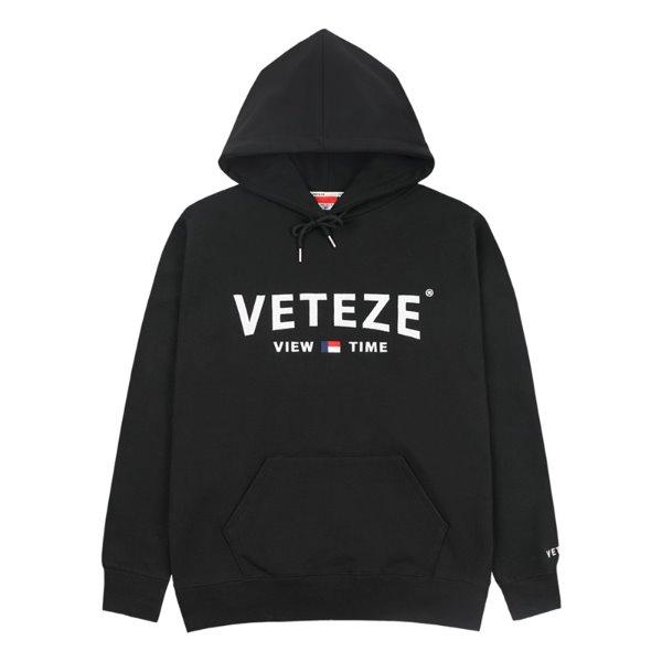 [VETEZE] Curve Logo Hood (black)