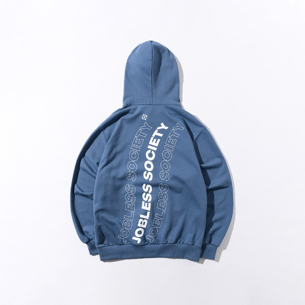 [잡리스 소사이어티] SOCIETY REAR FILL HOODIE (Smokey Blue)