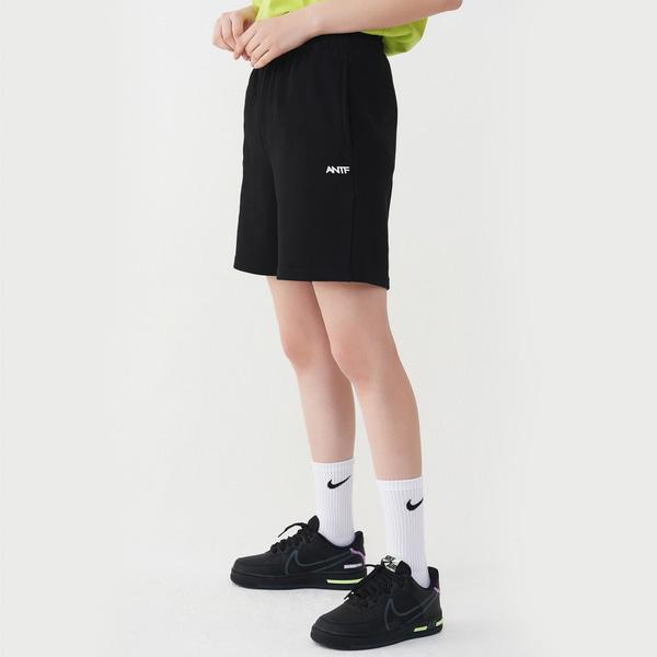 [어나더프레임] 컴피 스웨트 반바지 (블랙)