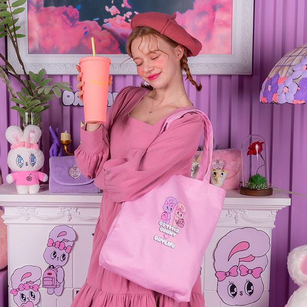 데이라이프♥에스더버니 트윈버니 에코백 (핑크)