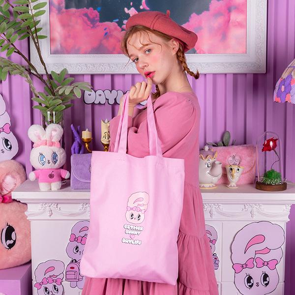 데이라이프♥에스더버니 레터링 에코백 (핑크)