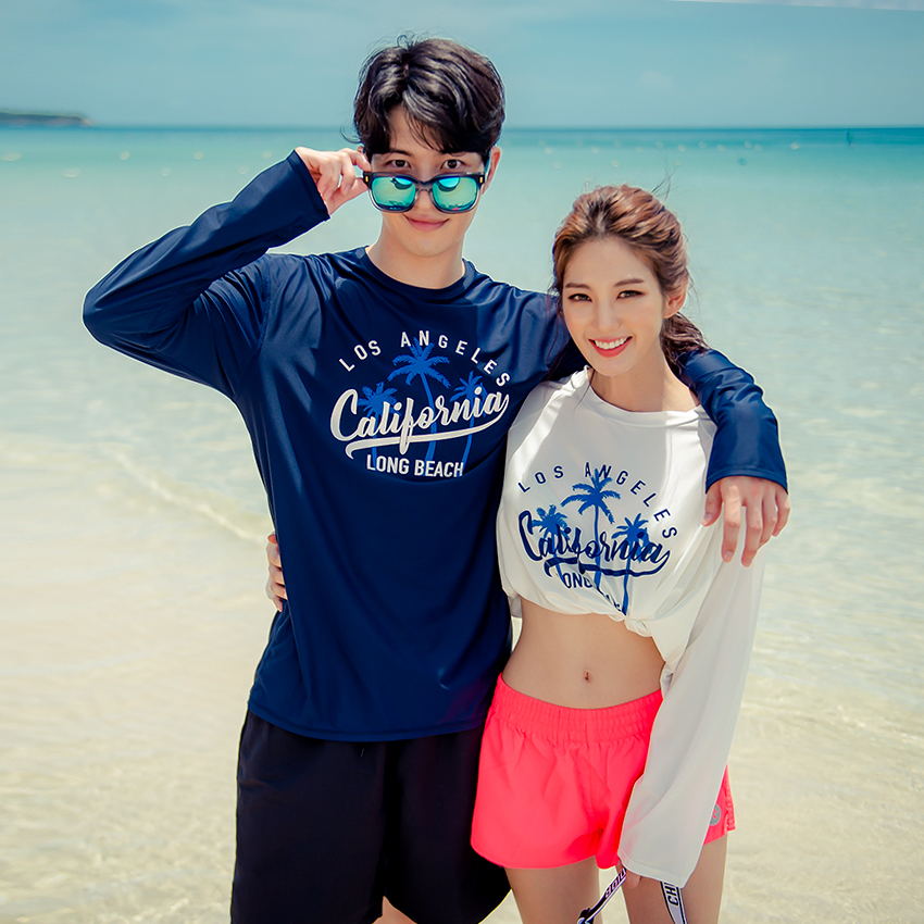 Catsby Loose Fit Rash Guard Couple