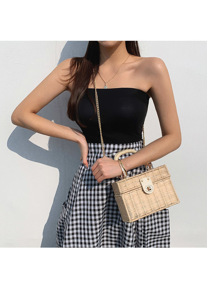 Plain plain cap tube top