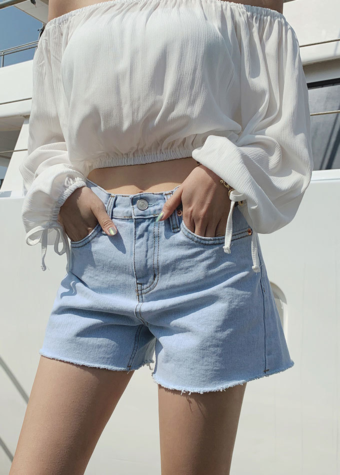 Edney high waist denim short pants