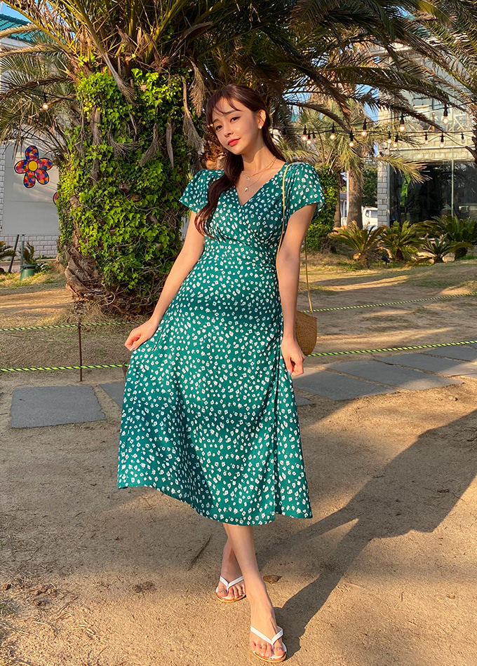 Wendy Flower Wrap Dress