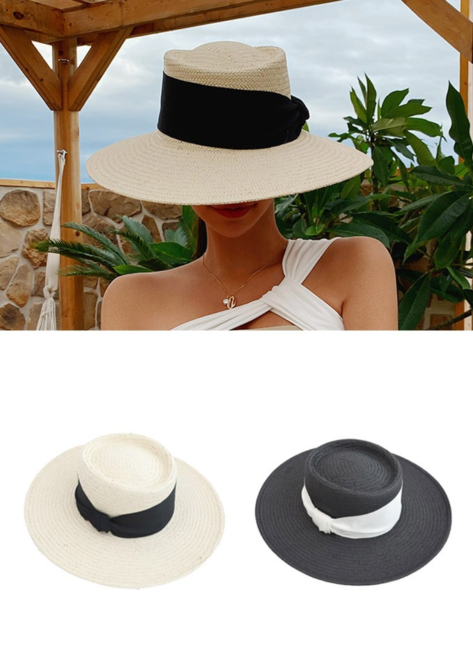 Boater strap straw hat