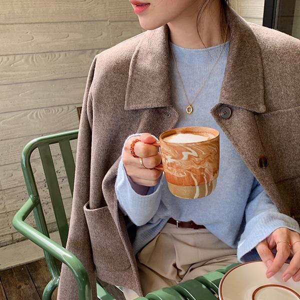 [ハンドメイド]ヘリンボーンショートコート(3colors,Wool60%)💛66girls💛