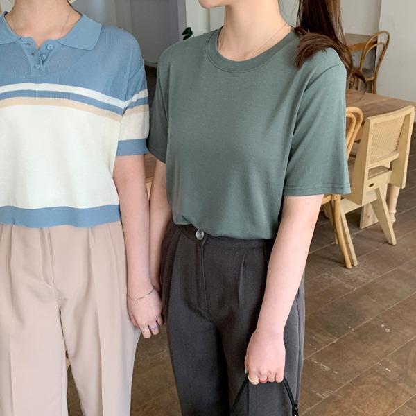 ソフトベーシックTシャツ-半袖ver💛66girls💛