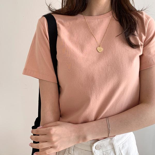 圆领短袖基本款纯色T恤