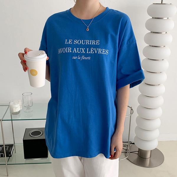 半袖宽松字母印花T恤