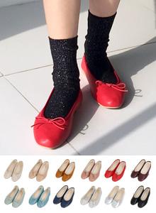 简约蝴蝶结元素平底鞋