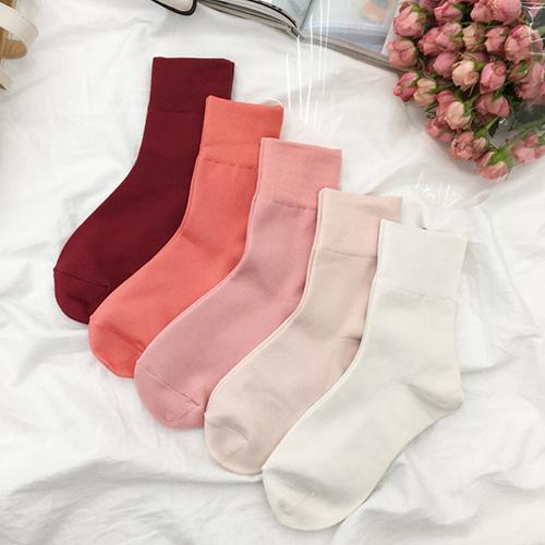 精彩美色秋冬中筒襪