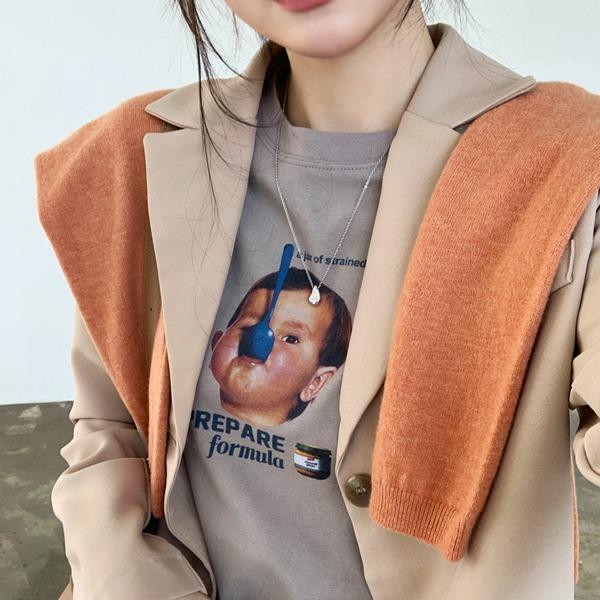 趣味人物印花純棉短袖T恤