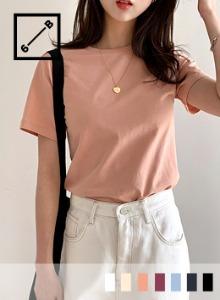 基本款圓領純棉短袖T恤