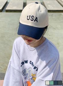 USA刺繡後釦帶棒球帽