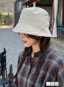 細膩縫線素面純棉漁夫帽