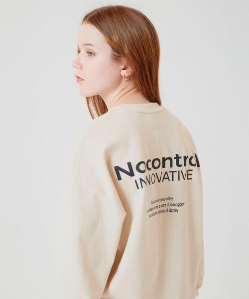 [노컨트롤] NCTR SLOGAN Overfit CREWNECK BEIGE