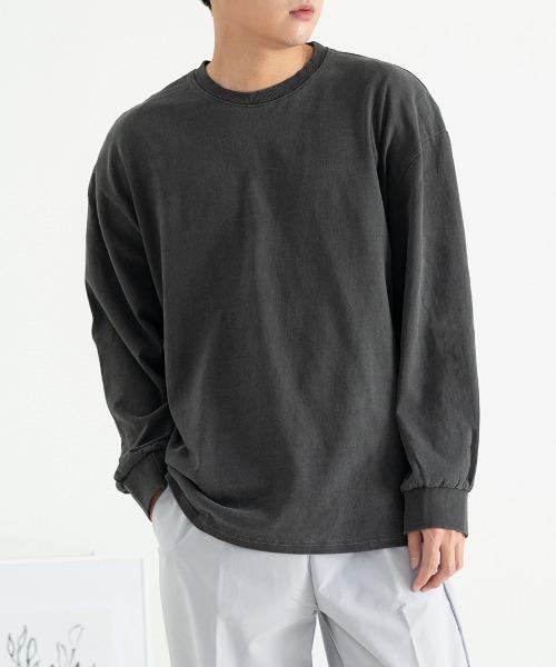 피그먼트 오버핏 긴팔 티셔츠