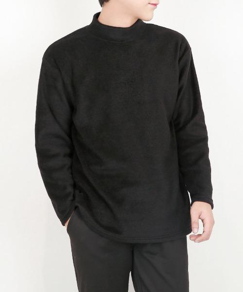 베이직한 이중 후리스 반목 티셔츠