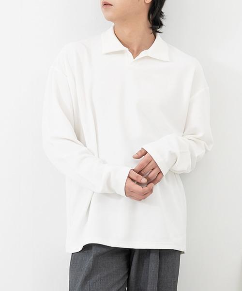 데하 카라 긴팔 티셔츠