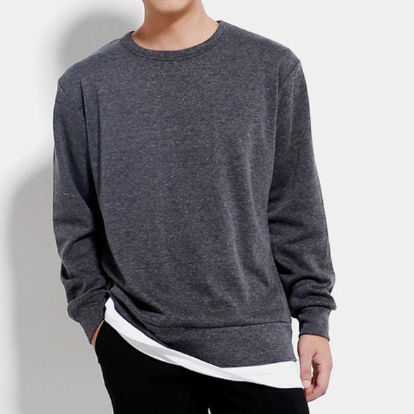 벤티 레이어드 맨투맨 티셔츠 (4color)