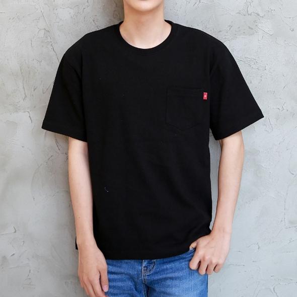 라벨 포인트 포켓 반팔 티셔츠 1