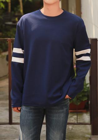 FitUs|配色ラインTシャツ