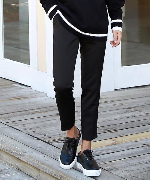2타입 데일리 suit 바지 (블랙)