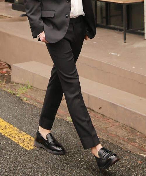 데일리 기본 suit 바지 (블랙)
