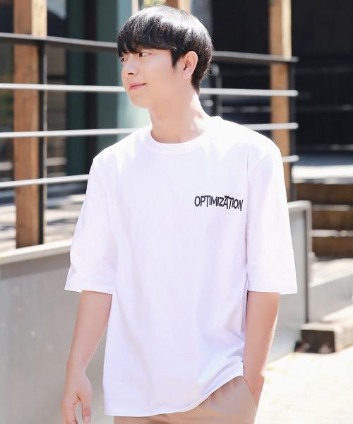 포인트 로고 반팔 티셔츠