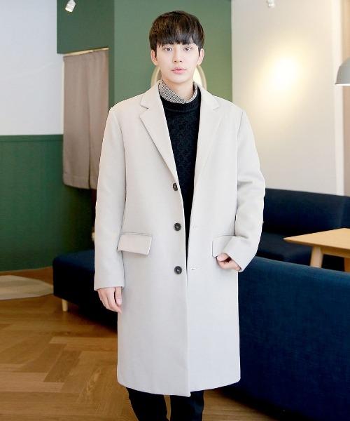 헤븐 싱글 누빔 코트