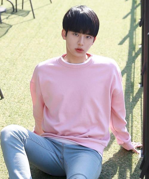 벚꽃 루즈핏 맨투맨 티셔츠