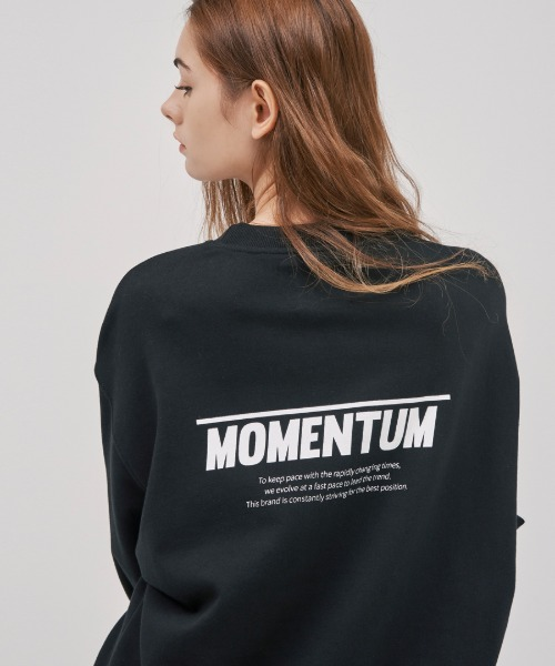 [하이모멘텀] UNISEX OVERFIT FORESLEEVE POINT MTM_BLACK