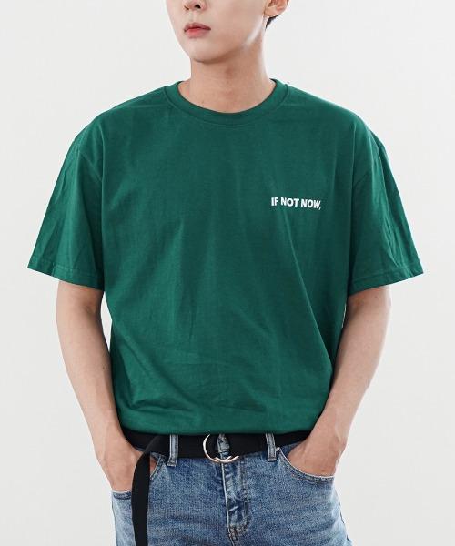 이프나우 오버핏 반팔 티셔츠