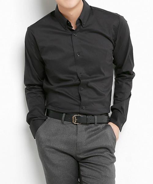 챈스 기본 스판 긴팔 셔츠